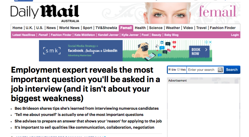 Daily Mail Gender Expert Talks Employment Tips For Hirees